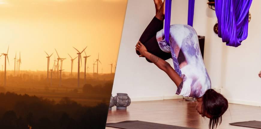 Aerial yoga, en donations workshop
